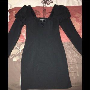 Black Express Tight Dress
